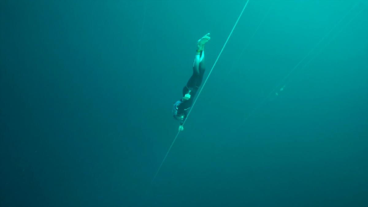 William Trubridge diving