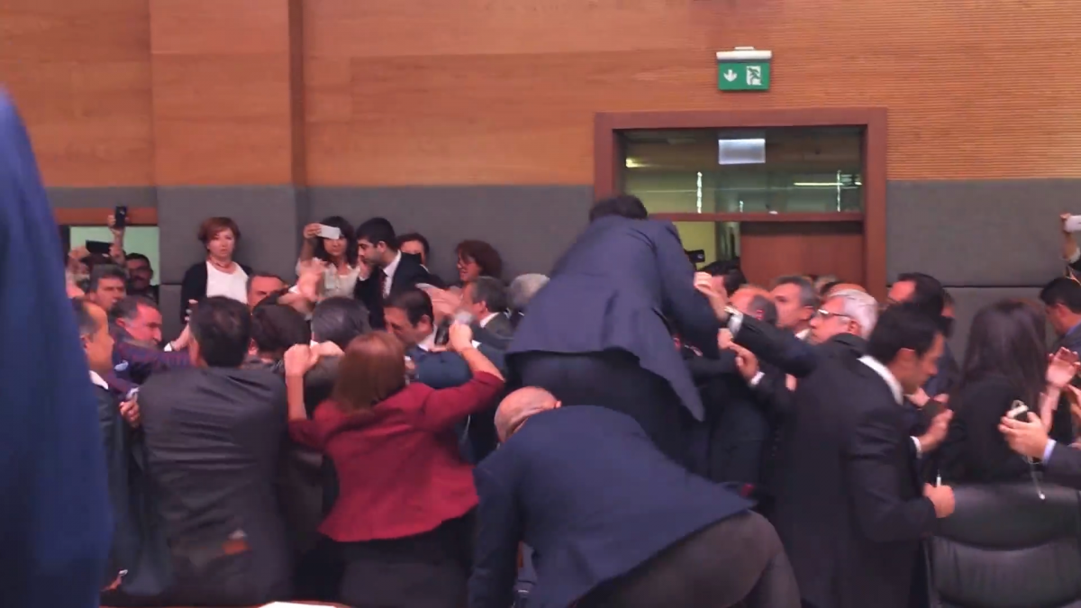 Turkish National Assembly fight
