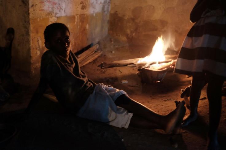 Homeless family in Burundi