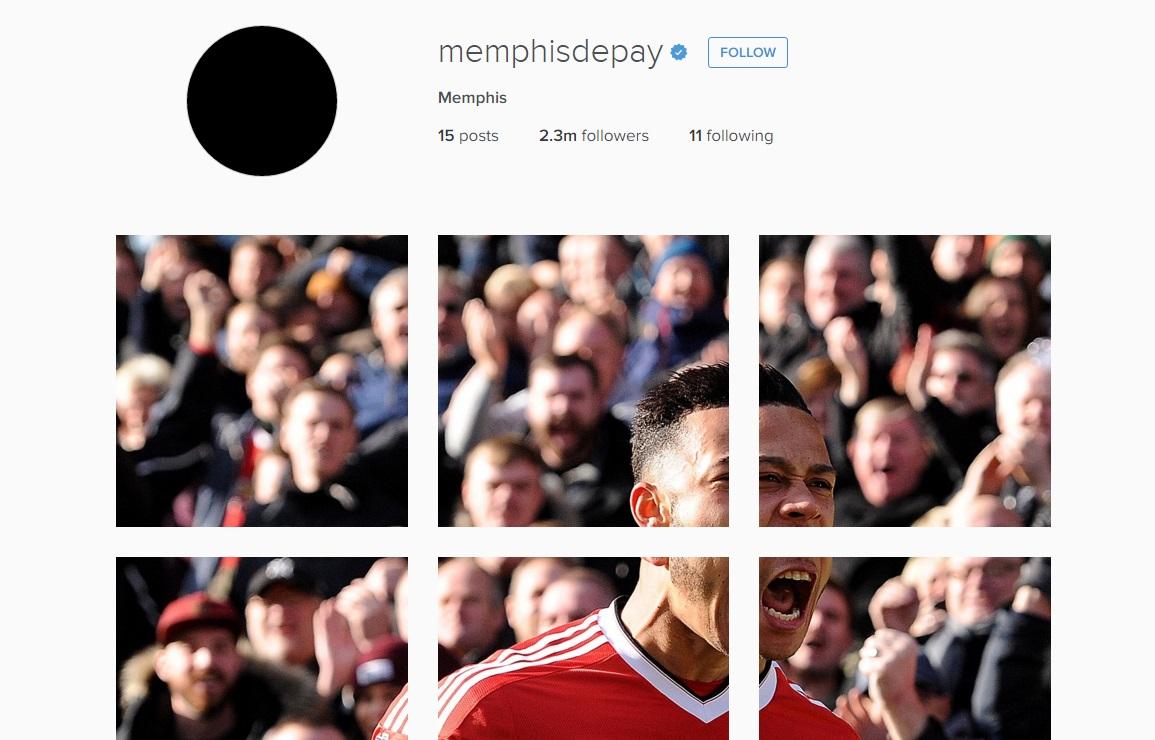 Memphis Depay's Instagram post
