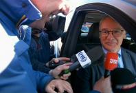 Claudio Ranieri in his car