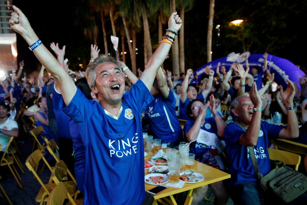 Leicester City fans in Thailand herald achievement of 'Siamese Foxes' winning Premier League