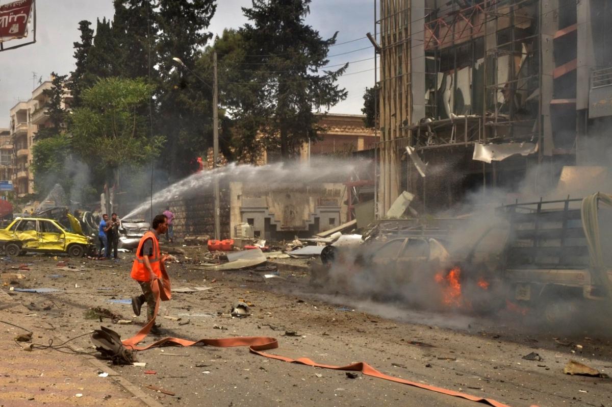 Aleppo hospital shelled