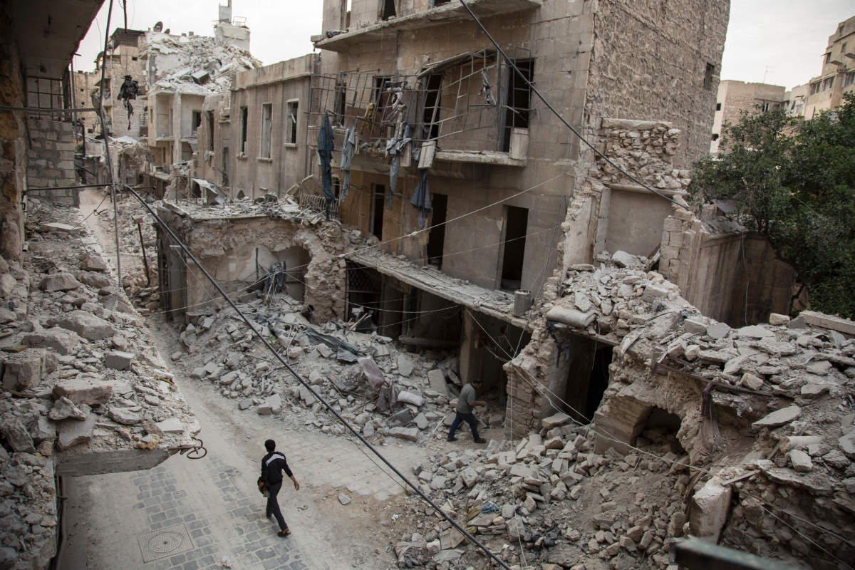 Aleppo airstrikes Syria