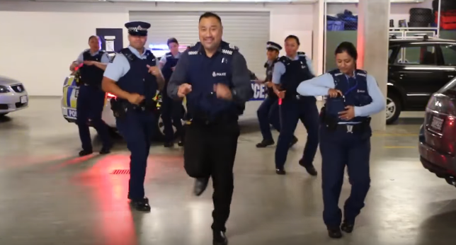 new zealand police dance off