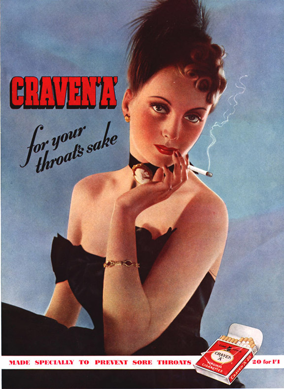 Vintage cigarette adverts