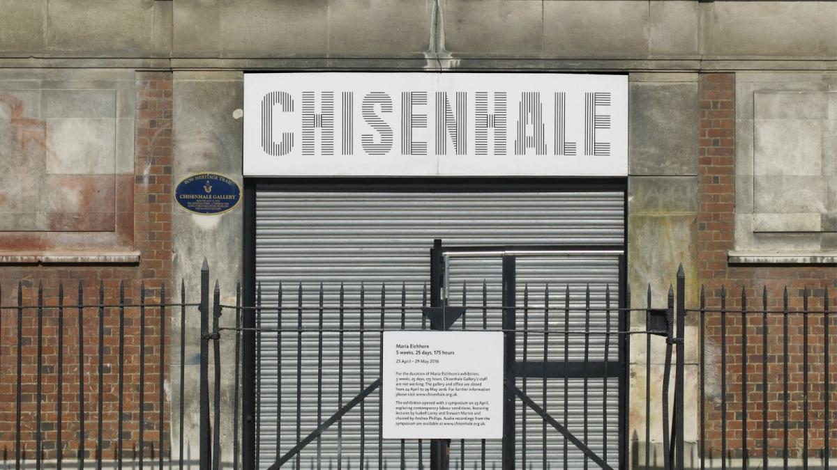 Maria Eichhorn shits chisenhale gallery
