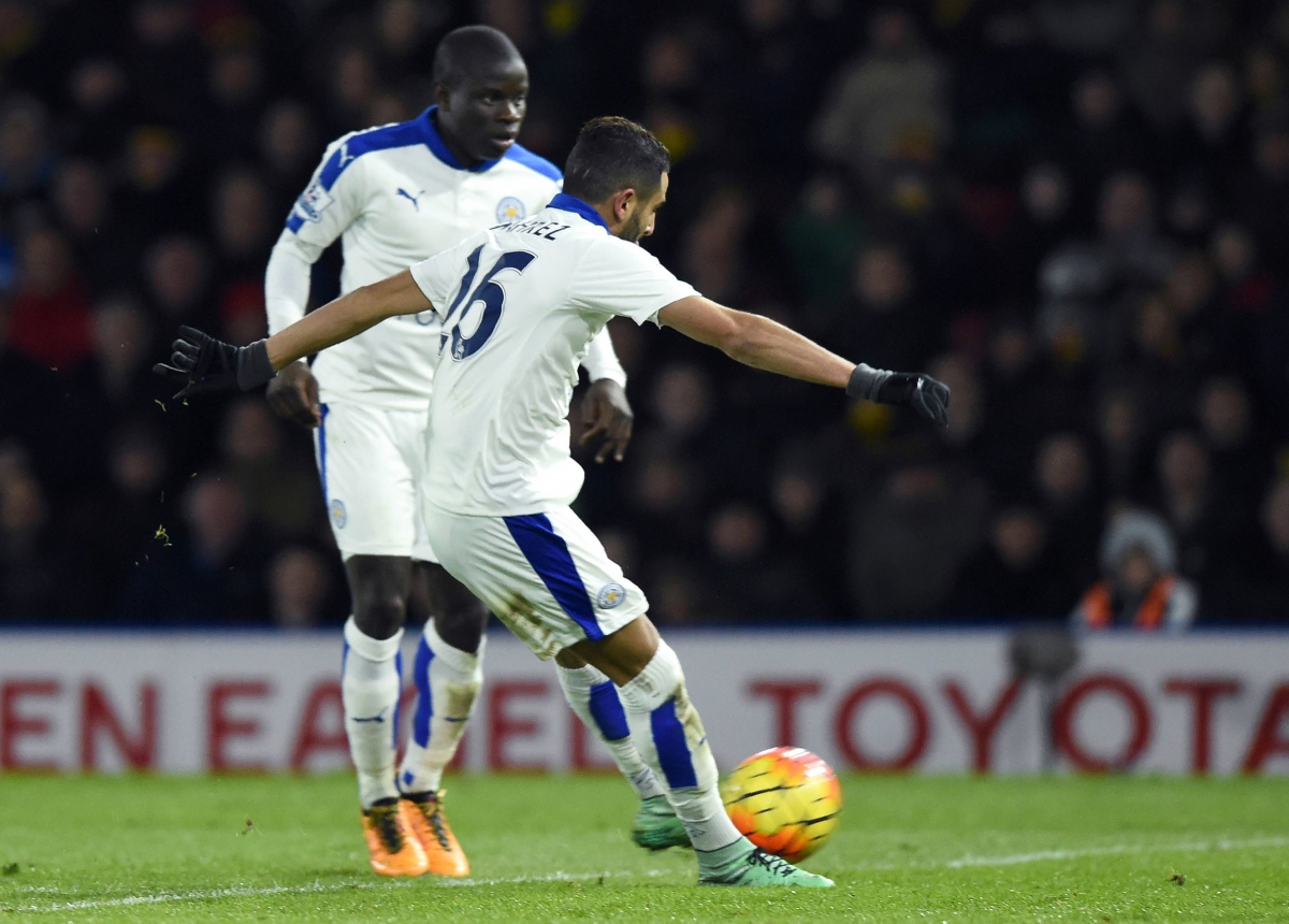 Kante (left) and Mahrez