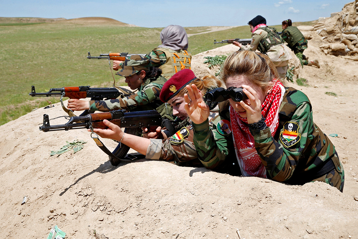Yazidi women fighters