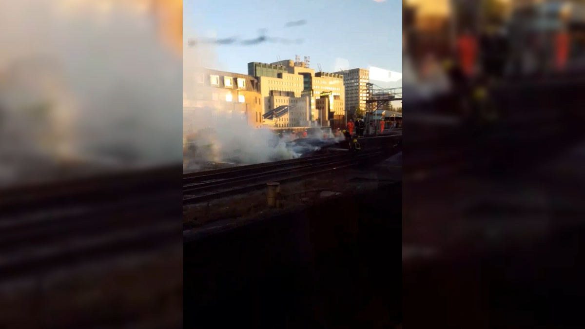 Vauxhall track fire