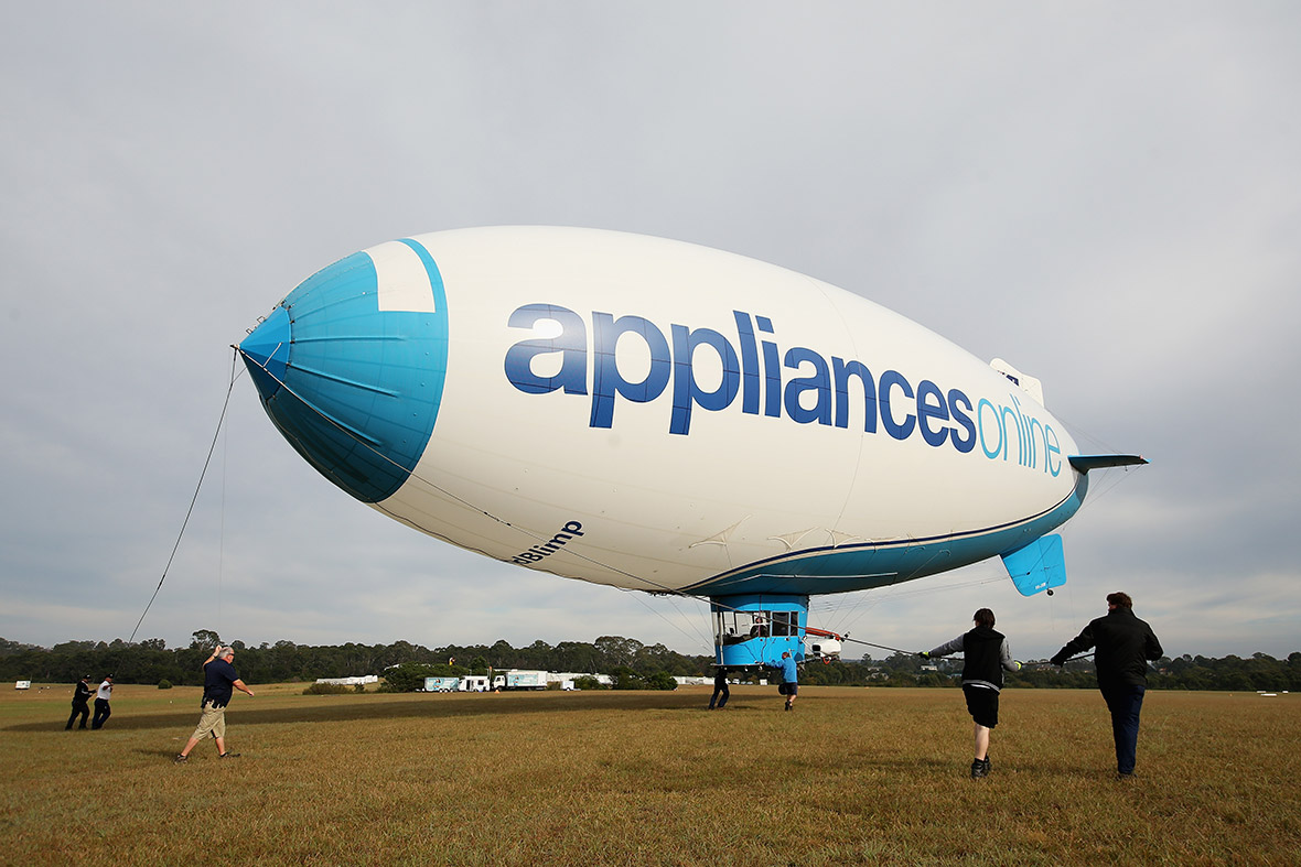 Sydney aerial photos Appliances Online blimp
