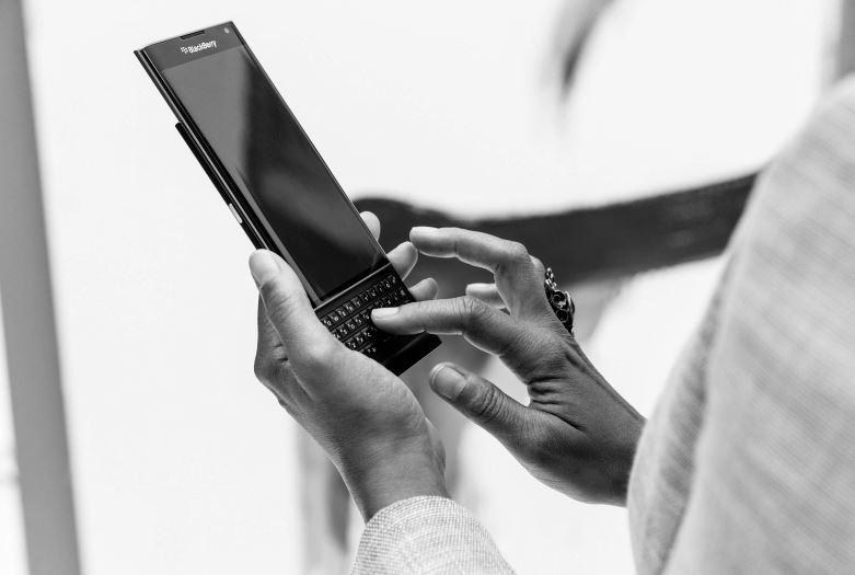 Type by swiping on BlackBerry Priv