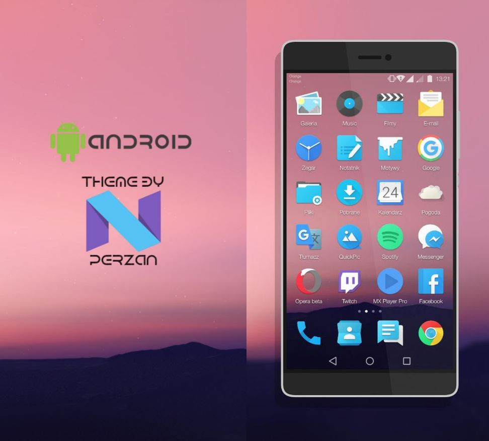 Android N theme for EMUI 3.1, EMUI4