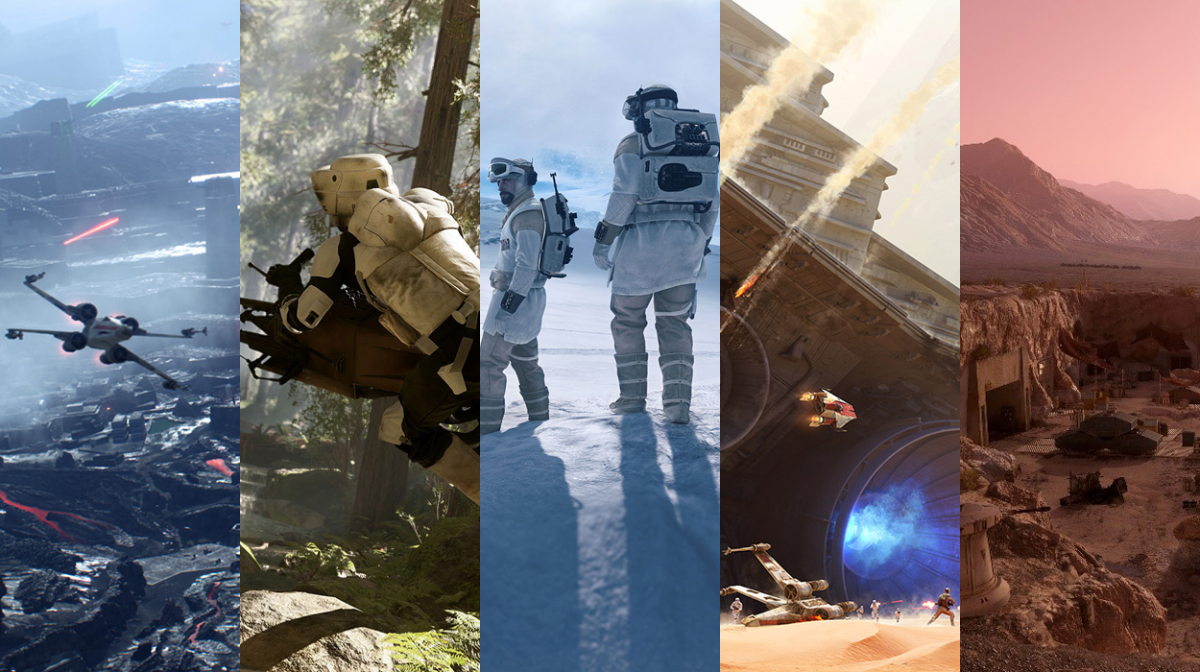 Star Wars Battlefront maps