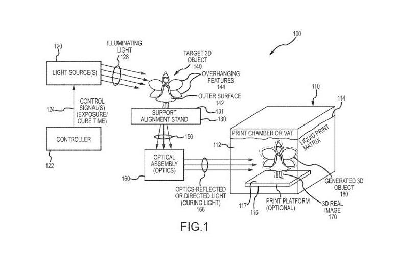 Disney 3D printing patent