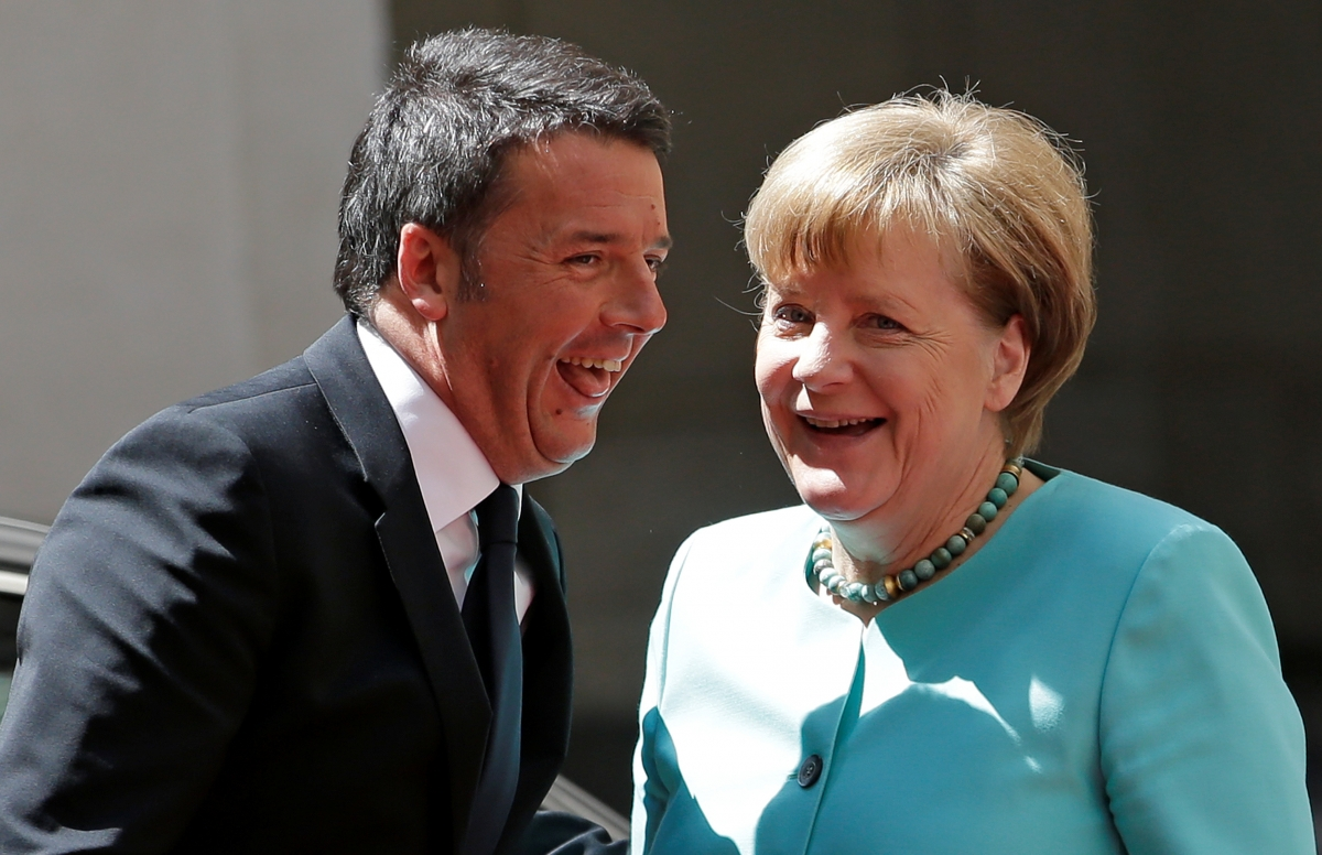 Angela Merkel and Matteo Renzi
