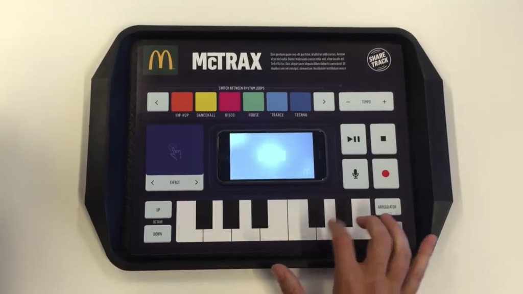 McDonald's McTrax placemats completes your happy meal by letting you DJ