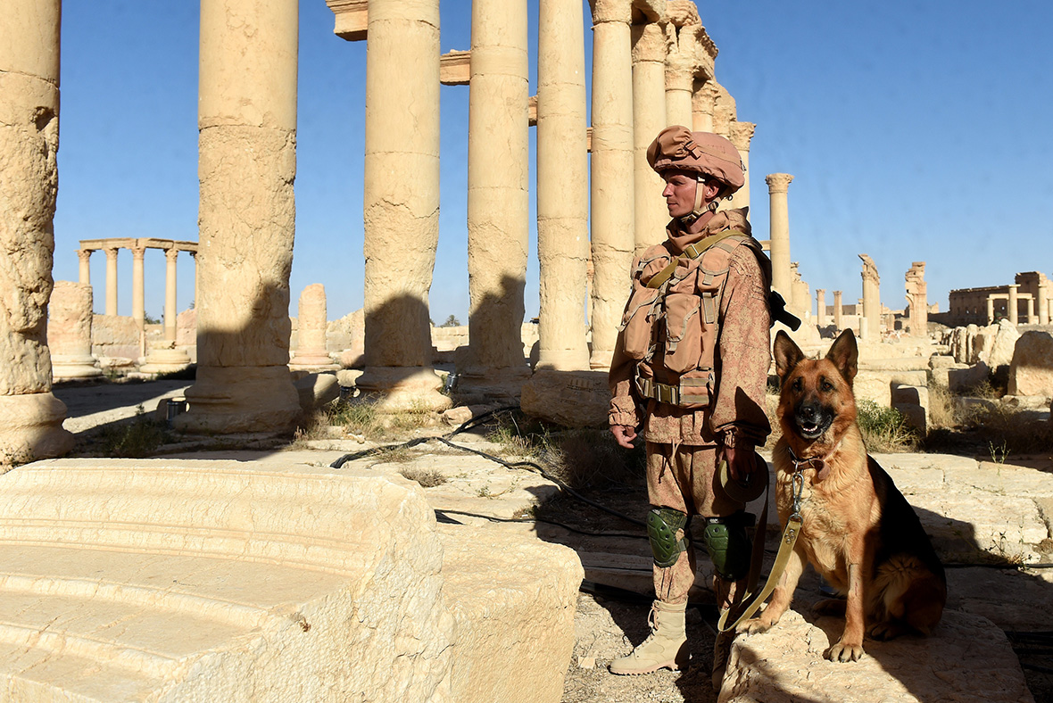 Russian soldiers, Palmyra