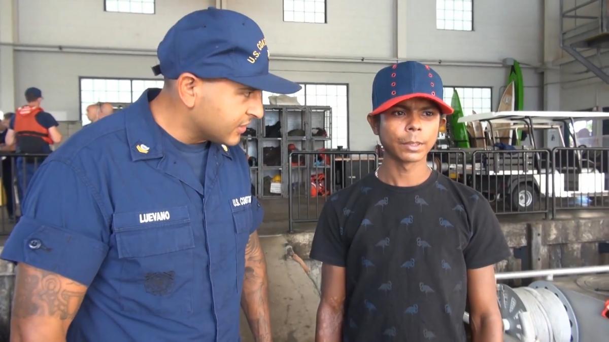 Rescued Columbian man