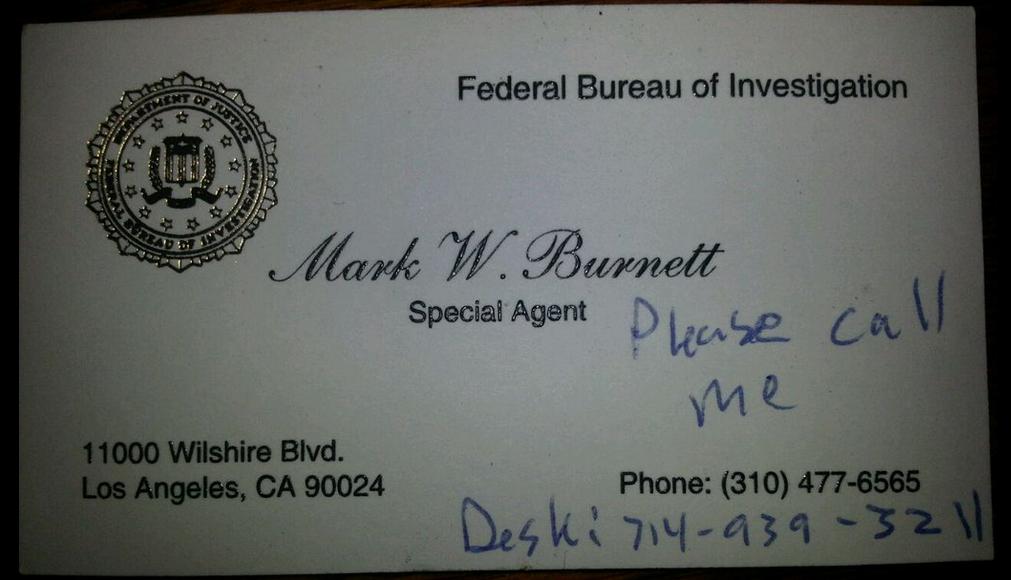 FBI ID card