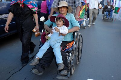 Bolivia disability protest