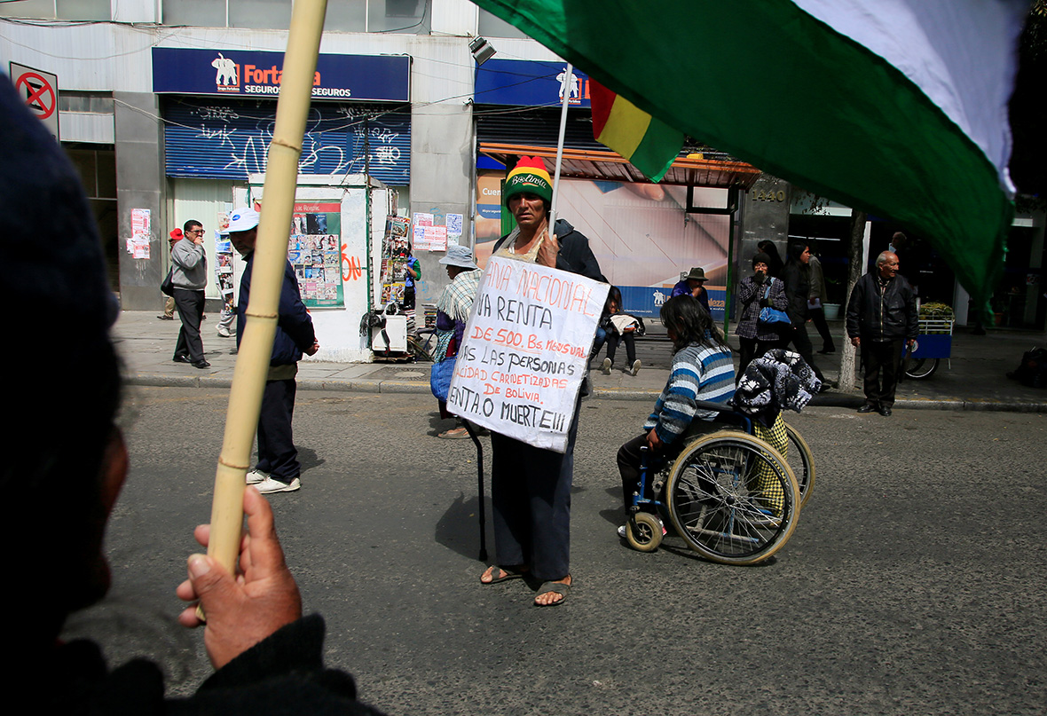 Bolivia disability protest