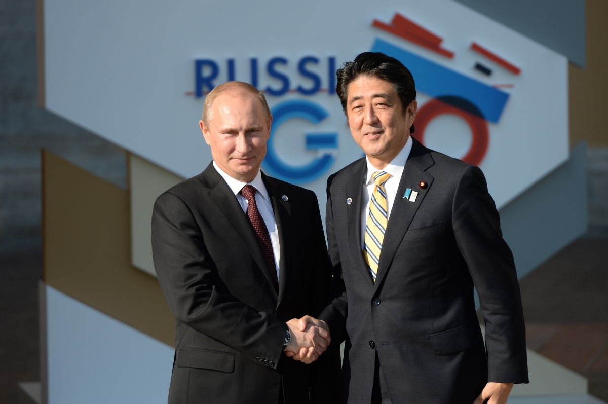Vladiri Putin and Shinzo Abe