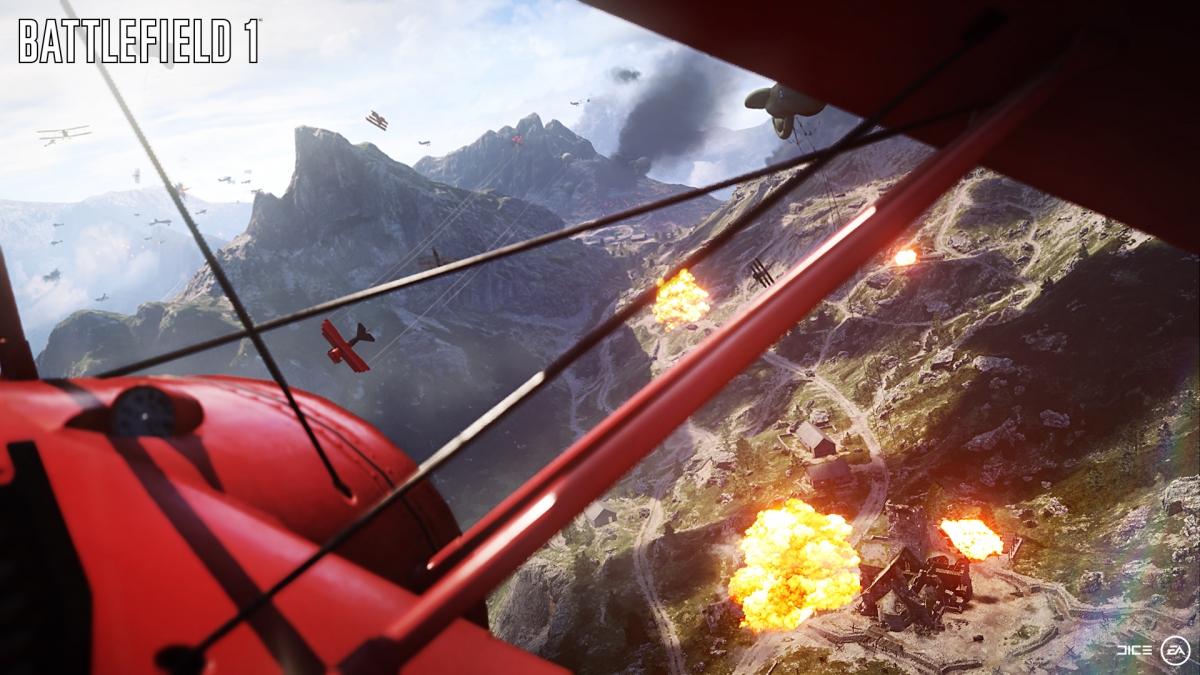 Battlefield 1 bi-plane screenshot