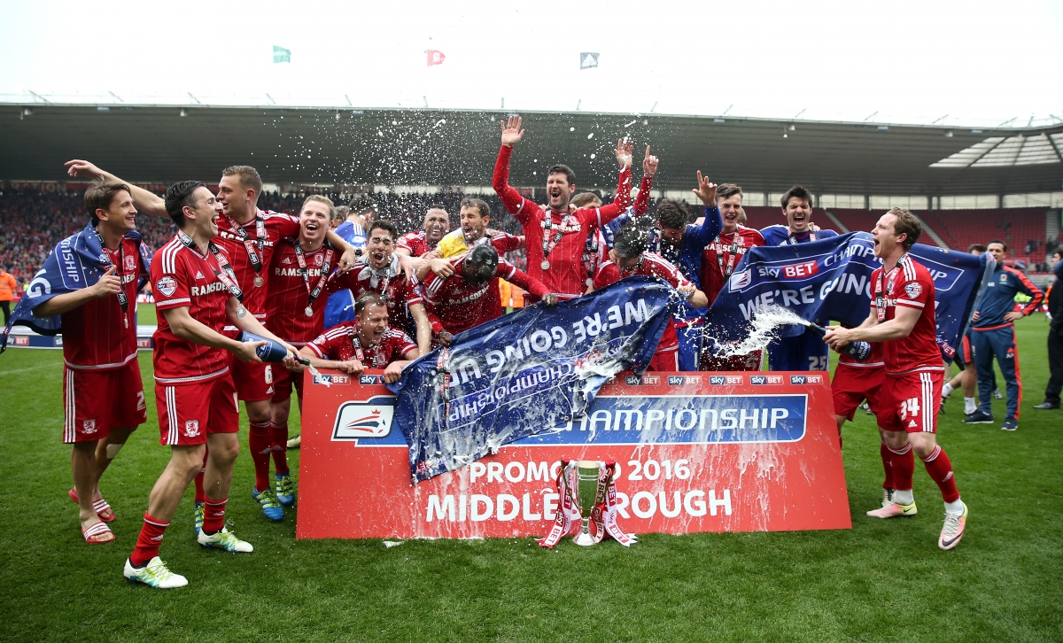 Middlesbrough promoted