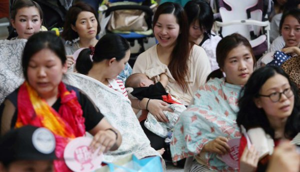 Breastfeeding flashmob
