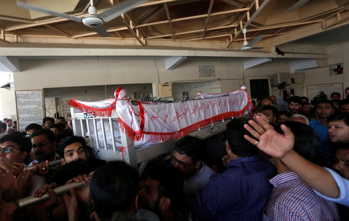 Khurram Zaki who was shot by gunmen