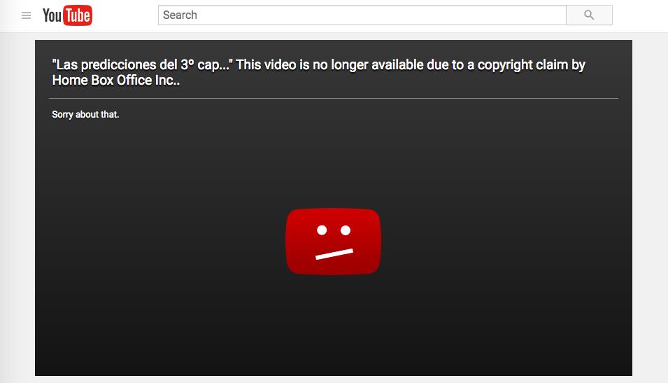 Spanish Spoilers blocked