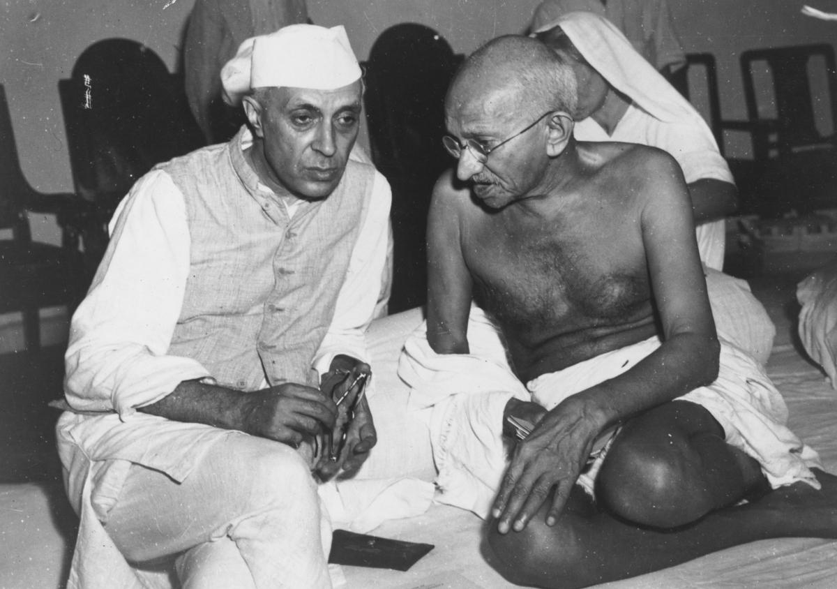 Jawaharlal Nehru and Mahatma Gandhi