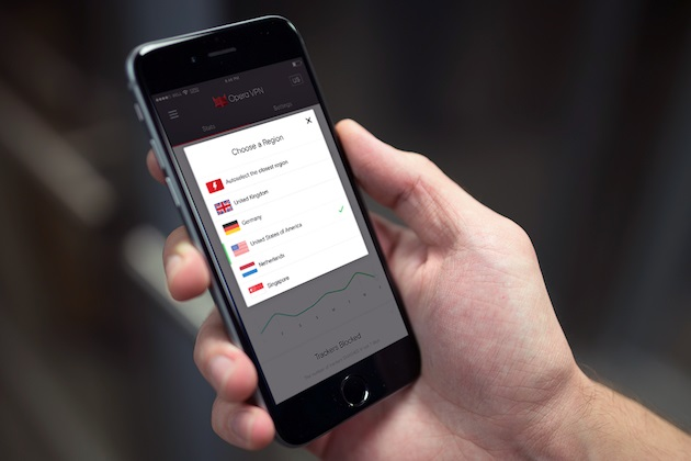 Opera VPN app for iOS