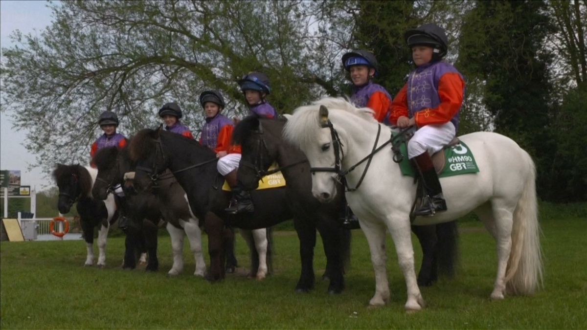 Young Jockeys Race Shetland Ponies In Honour Of Queen S