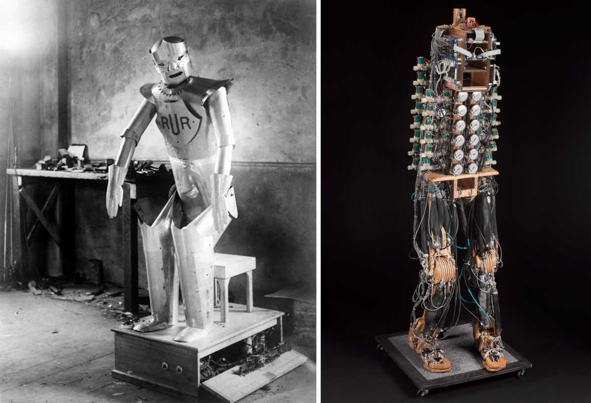 Eric the Robot and a bipedal robot