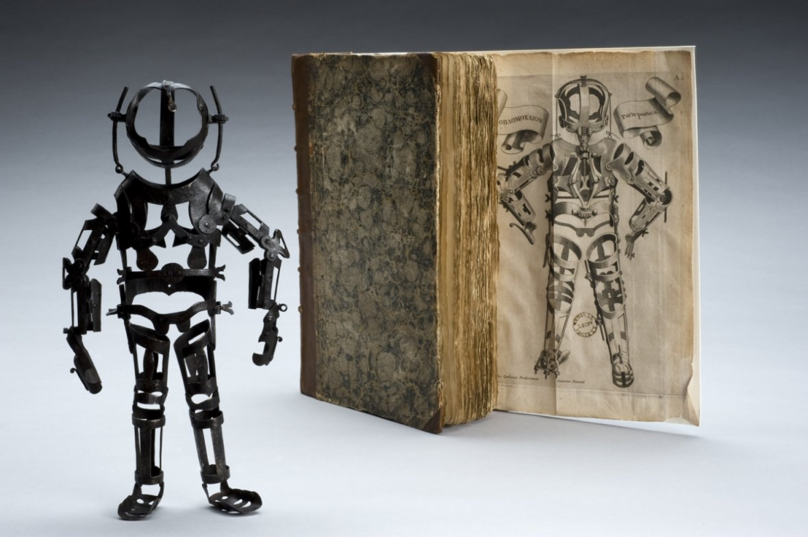 Articulated iron manikin from 1582