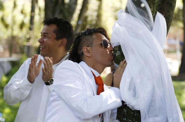 Peruvian activist and actor Ricardo Torres