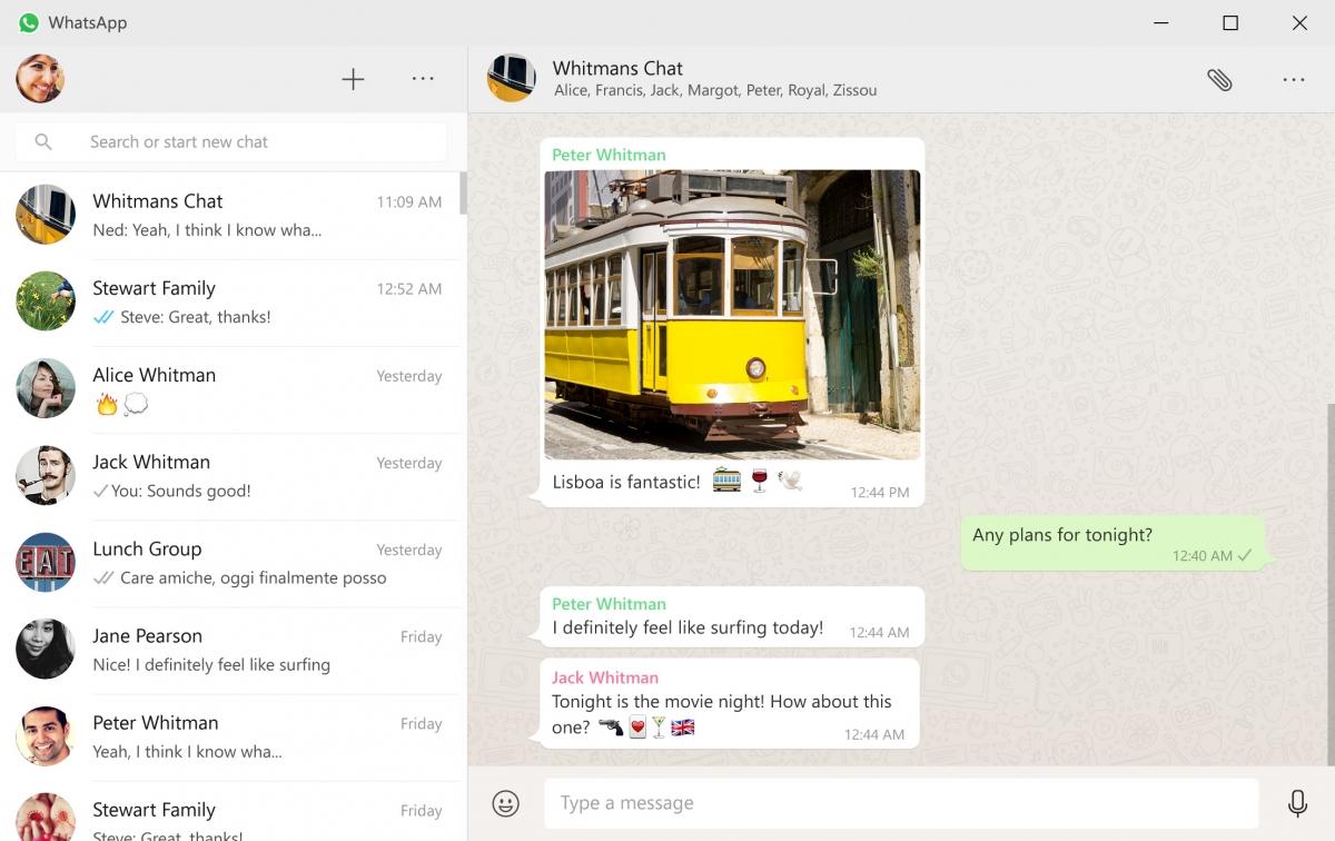 WhatsApp for desktop