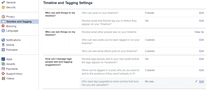 How to turn off Facebook's auto-tagging feature