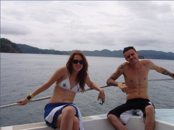 Kristen with her brother, Cameron