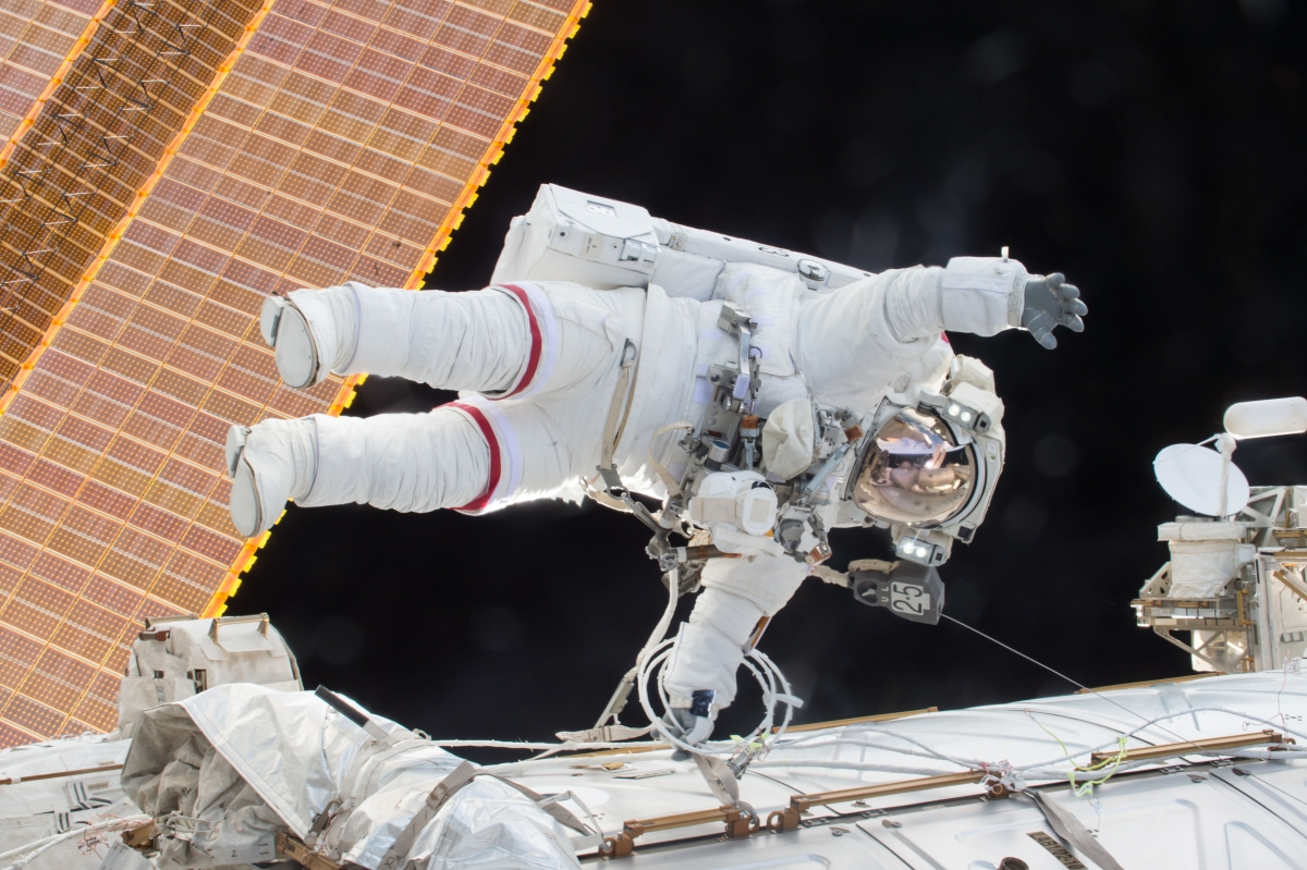 Nasa astronaut Scott Kelly on a spacewalk