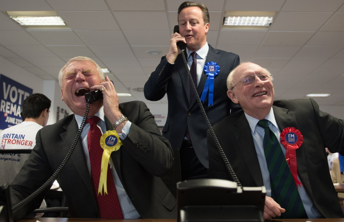 Paddy Ashdown, David Cameron and Neil Kinnock