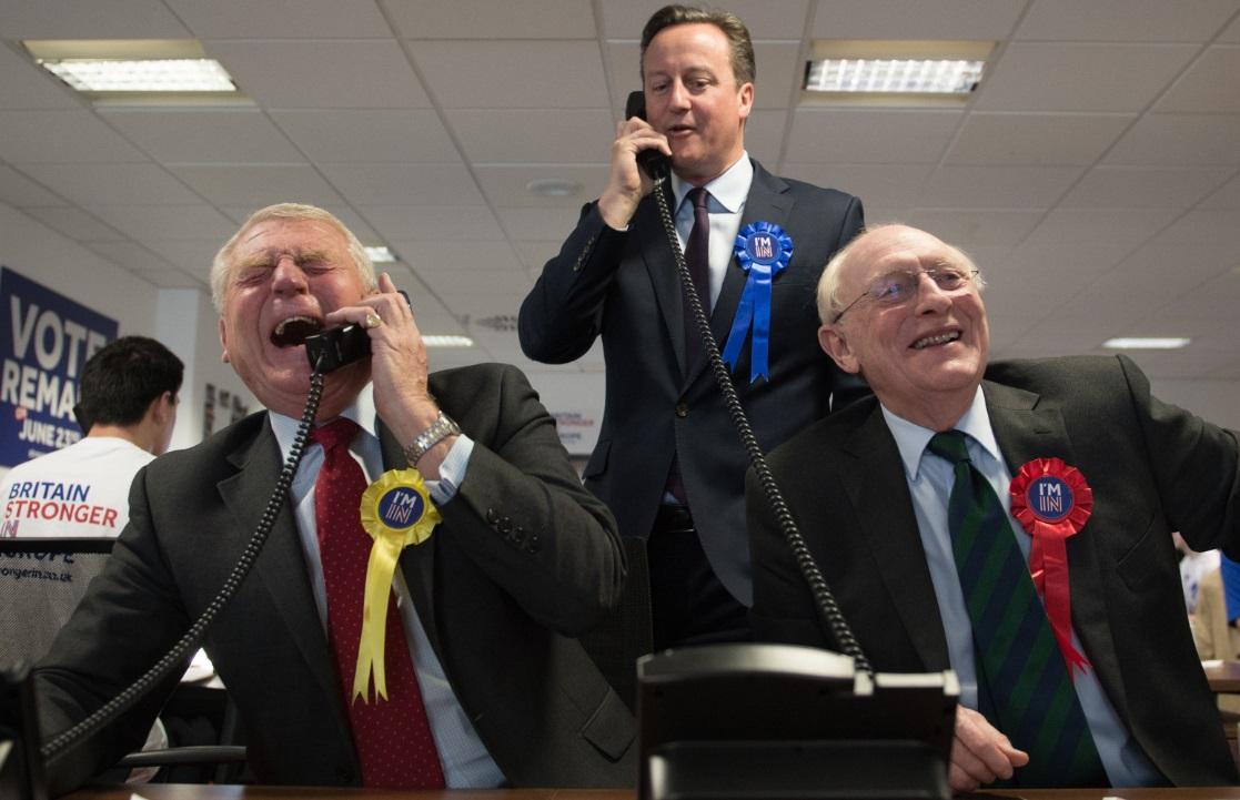 Paddy Ashdown, David Cameron and Neil Kinnock