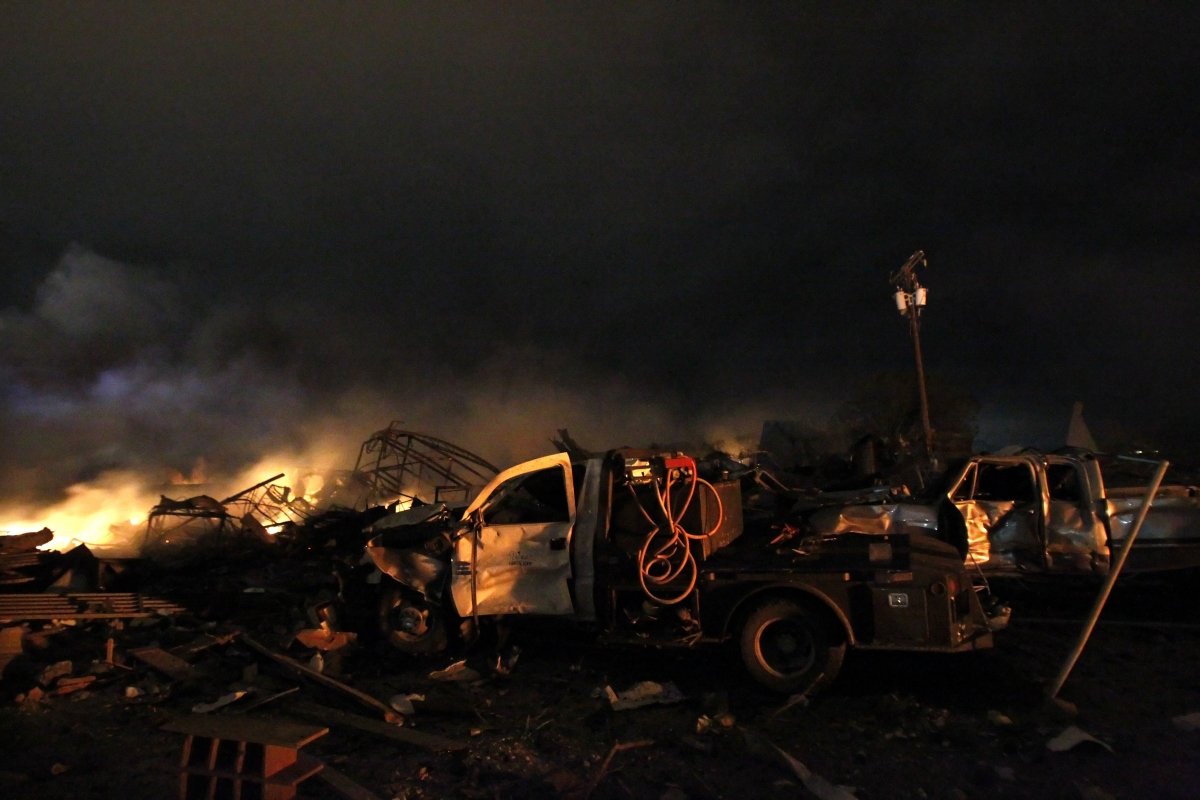 West Fertilizer plant explosion 2013 Texas