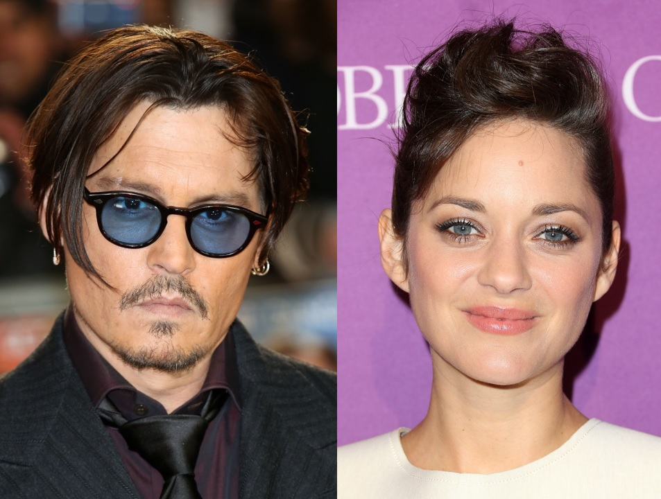 Johnny Depp and Marion Cotillard