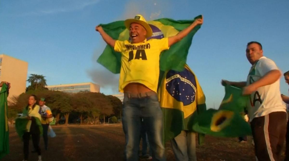 Pro-impeachment protesters in Brazil