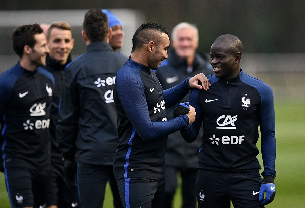 Dimitri Payet and N'Golo Kante