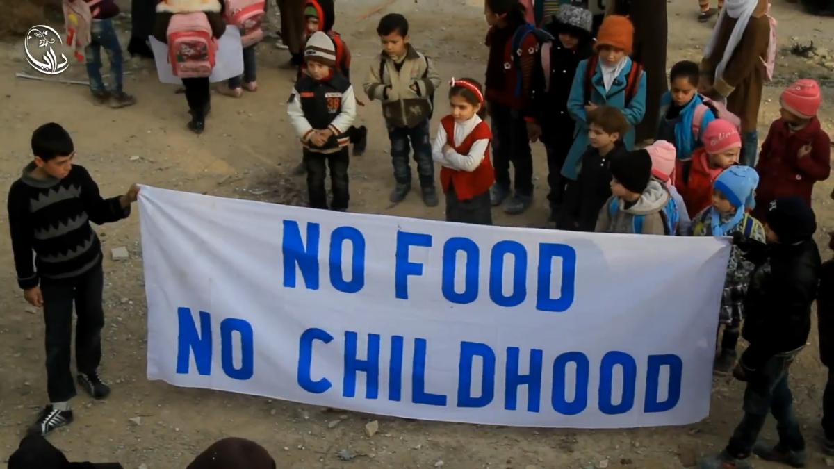 No food no childhood - Daraya siege