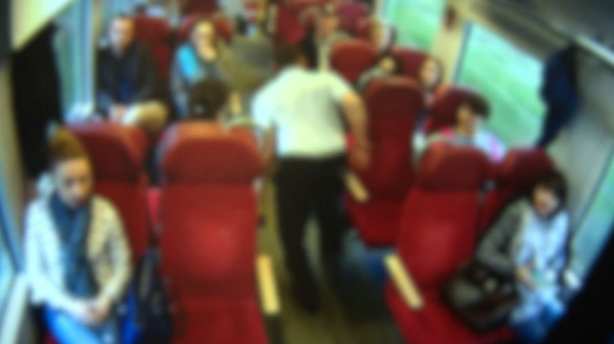 Train driver Matthew Szymanski